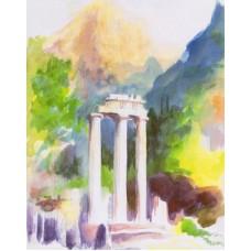 Vykort - Wy - Tempel i Aten