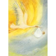 Vykort - MvZ315 - Stork m bebis