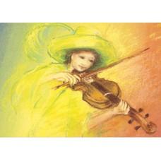 Vykort - MvZ316 - Spela fiol