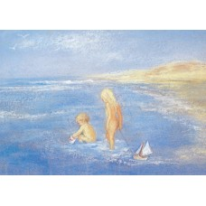 Vykort - MvZ324 - Barn leker i sjön