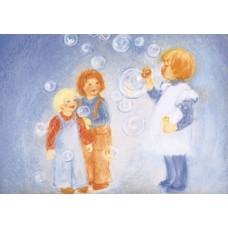 Vykort - MvZ329 - Blåsa såpbubblor