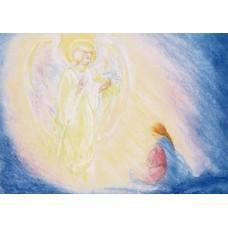 Vykort - MvZ414 - Ängel hos Maria - Advent
