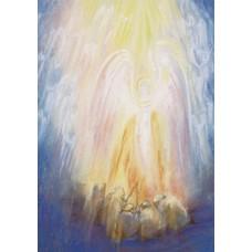 Vykort - MvZ415 - Ängel hos herdarna