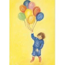 Vykort - MvZ423 - Pojke med ballonger