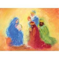 Vykort - MvZ429 - Tre vise män hos Maria
