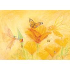 Vykort - MvZ443 - Älvor hjälper blommorna