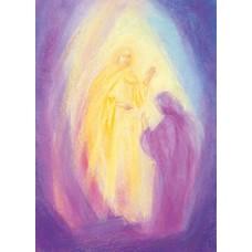 Vykort - MvZ455 - Ängel fökunnar uppståndelsen - Påsk