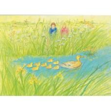 Vykort - MvZ458 - Barn vid sjökanten