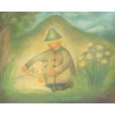 Poster - Mp949 - Herdeojke med lamm