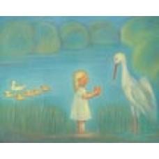 Poster - Mp973 - Gulledotter med storken